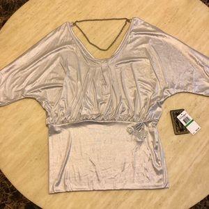 New Rocawear Silk Fashion Chain Top in Silver L